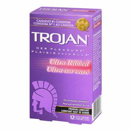 Trojan Her Pleasure Ultra Ribbed Condoms - 12's