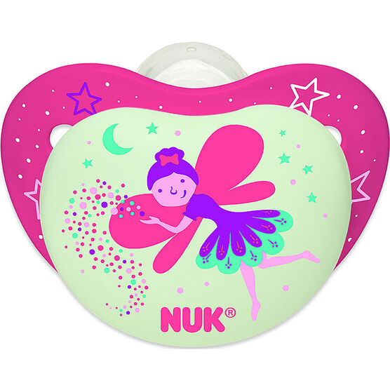 Nuk Nightglow Orthodontic Pacifier - Size 2 / 2 pack