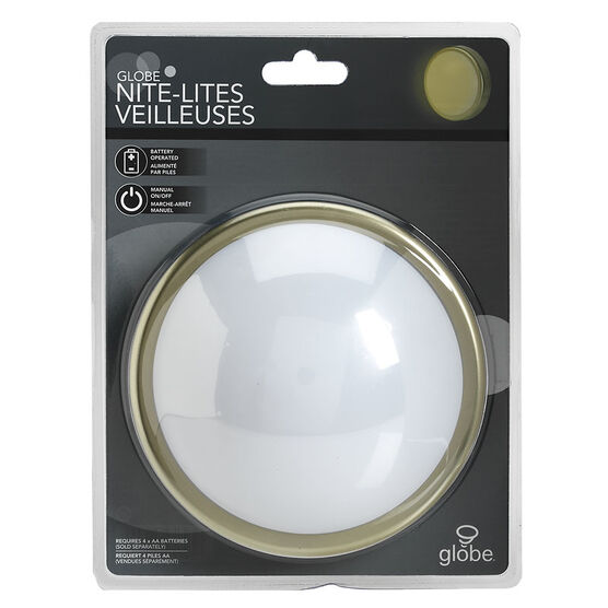 Globe Battery Push Light - Pewter - 89176