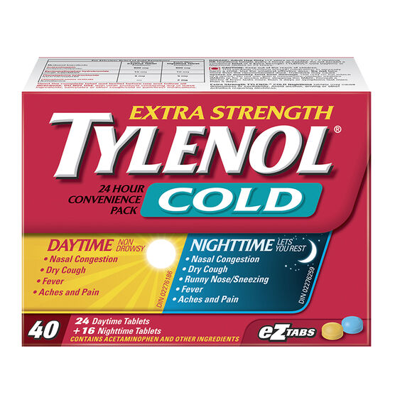 Tylenol* Cold Daytime & Nighttime Eztabs - Extra Strength - 40's