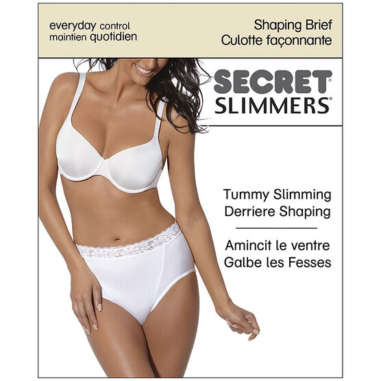 Secret Slimmer Shaping Brief - Large - White