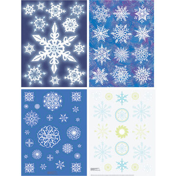 Christmas Snowflake Frenzy Clings - Assorted