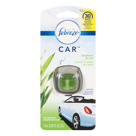 Febreze Auto Vent Clips - Meadows & Rain - 2ml
