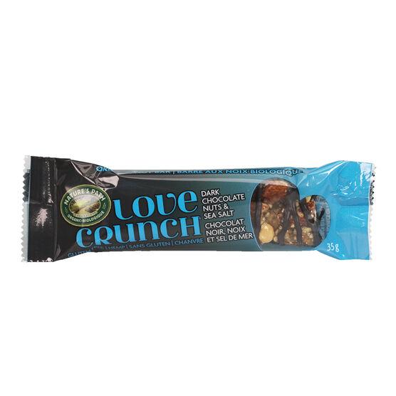 Nature's Path Love Crunch Bar - Dark Chocolate Nuts & Sea Salt - 35g