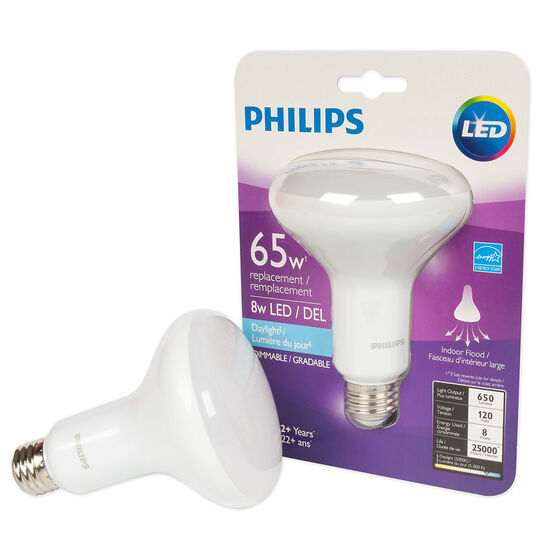 Philips BR30 LED Dimmable Light Bulb - Daylight - 8w/65w