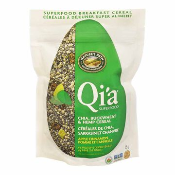 Nature's Path Qi'a Superfood Chia Buckwheat & Hemp Cereal - Apple Cinnamon - 225g
