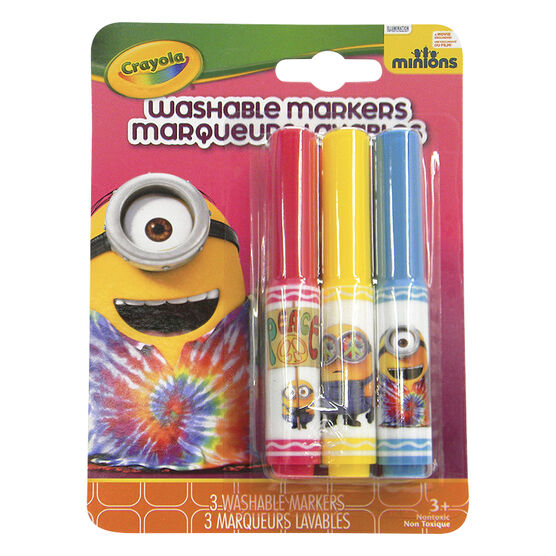 Crayola Minions Washable Markers - Rock & Roll - 3 pack