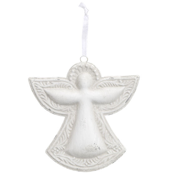 Winter Wishes Metal Angel Ornament - 6.1in - XLD11132305WFOB