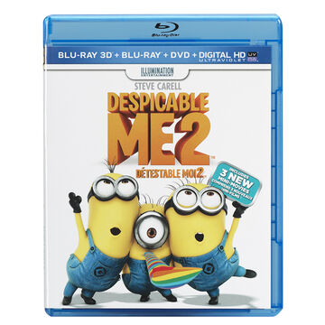 Despicable Me 2 - 3D Blu-ray + Blu-ray + DVD + Digital Copy +  Ultraviolet
