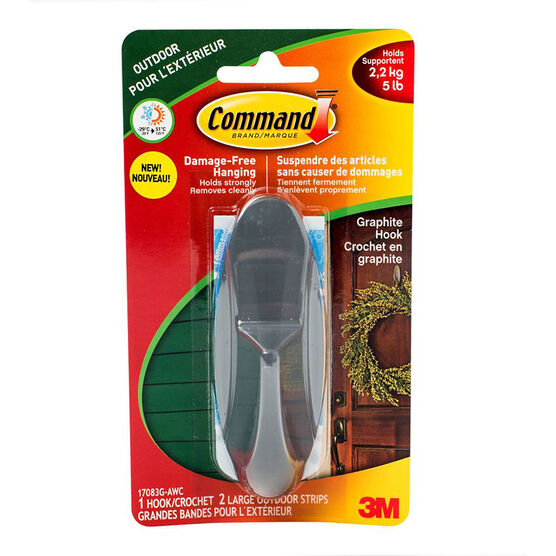 3M Command Graphite Hook - 17083G-AWC