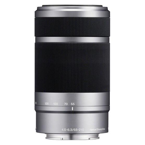 Sony NEX Lens 55-210mm f/4.5 - 6.3 - Silver