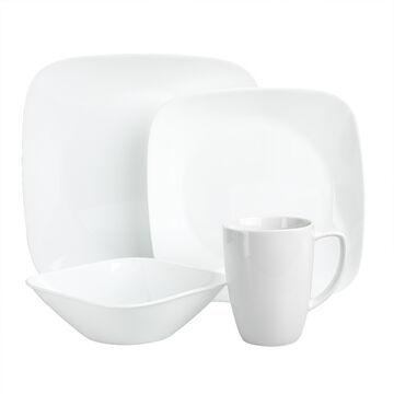 Corelle Square Pure White Dinnerware Set - 16 piece