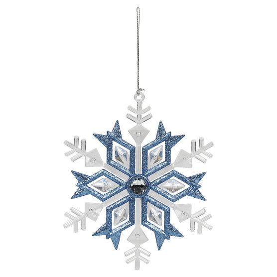 Winter Wishes Snowflake Ornament - 5.25in - XLD451928FOB