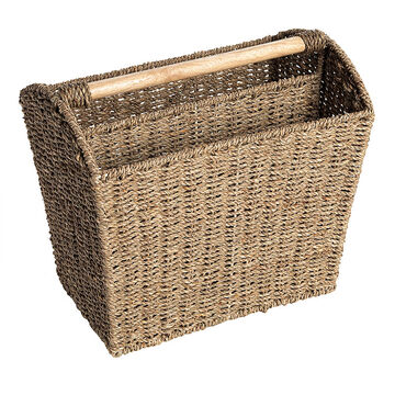 London Drugs Seagrass Magazine Basket - 36 x 25 x 33cm