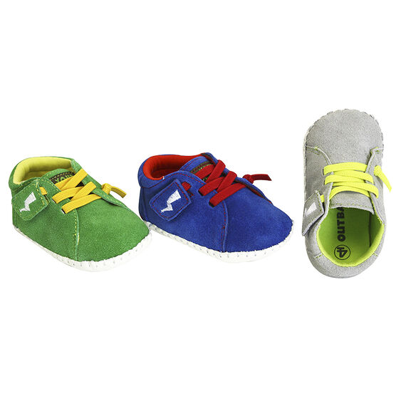 Outbaks Suede Flash Shoes Assorted - Boy's