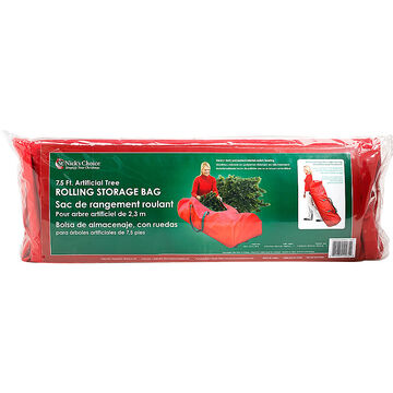 Rolling Christmas Tree Storage Bag - For 7.5-ft Trees