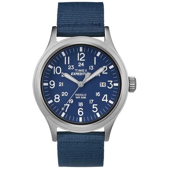 Timex Scout Metal Watch - Blue/Tan - TW4B07000GP