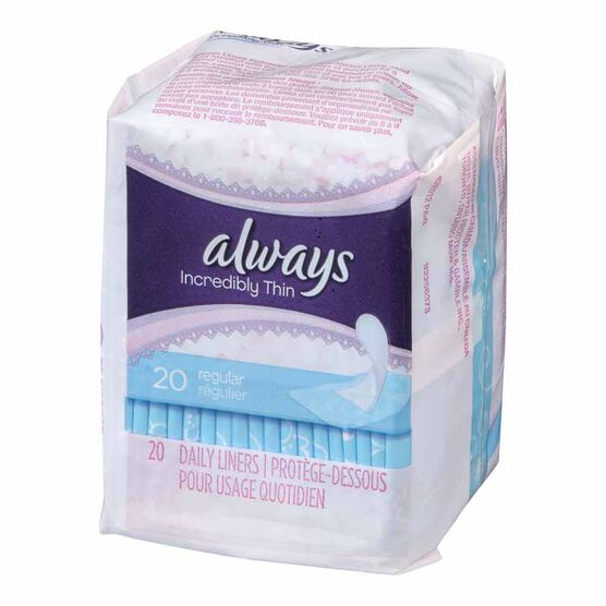 Always Thin Pantiliners - Unscented - 20's