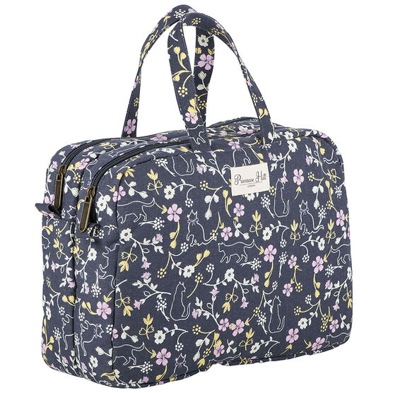 Primrose Hill Cats & Leaves Double Zip Weekender