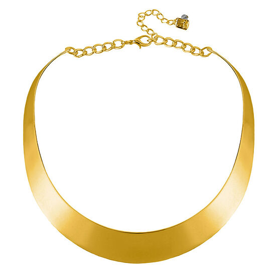 Robert Lee Morris Gold Half Moon Necklace