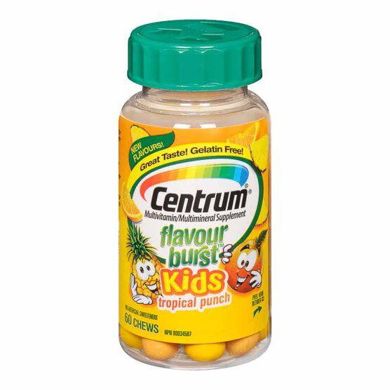 Centrum Flavour Burst Kids - Tropical - 60's