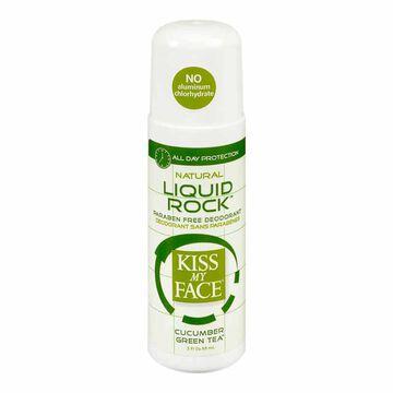 Kiss My Face Natural Liquid Rock Deodorant - Cucumber Green Tea - 88 ml