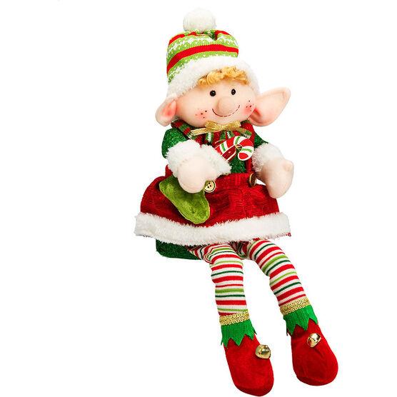 "Winter Wishes Sitting Elf Plush - 16"""