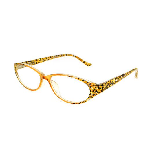 Foster Grant Kitty Reading Glasses with Case - Brown Leopard - 1.75