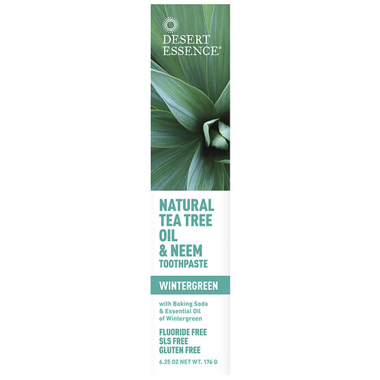 Desert Essence Tea Tree Oil Toothpaste with Neem - 176g