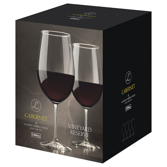 Libbey Vineyard Reserve Cabernet Wine Glasses - 22oz/4 pack