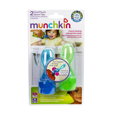 Munchkin Food Pouch Click Lock Spoon Tips - 2 pack - 15537 - Assorted