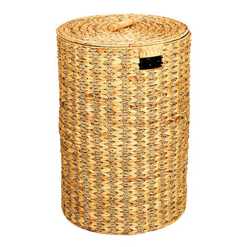 London Drugs Water Hyacinth Seagrass Round Hamper with Lid - 42 x 60cm
