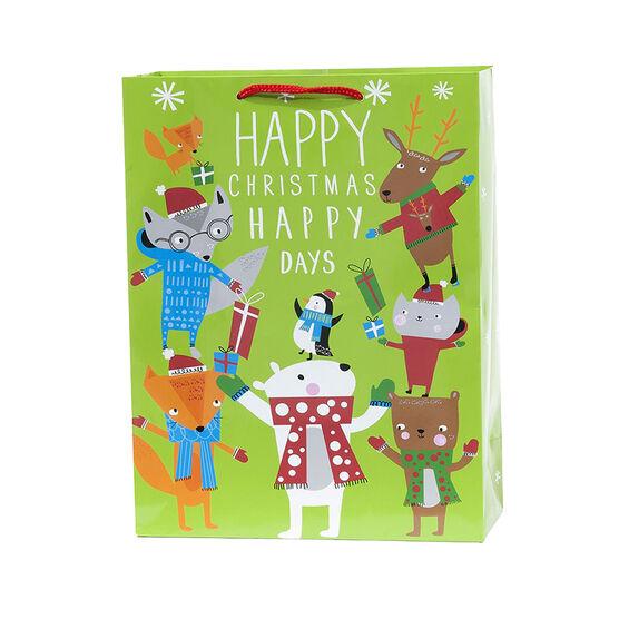 Plus Mark Holiday Animal Gift Bag - Large - 052044LDT