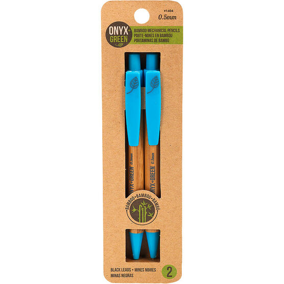 Onyx + Green 0.5mm Bamboo Mechanical Pencils - 2 pack