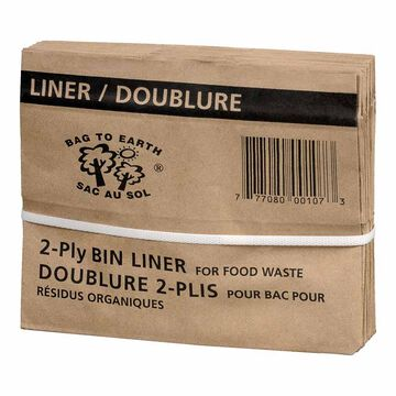 Bag to Earth Paper Bin Liner - 7Ltr. - 10 pack