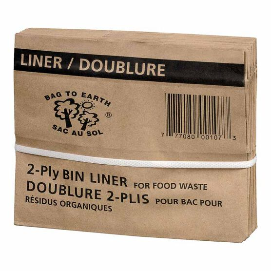 Bag to Earth Paper Bin Liner - 7Ltr. - 10 pack