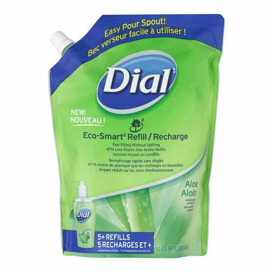 Dial Antibacterial Liquid Hand Soap Eco-Smart Refill - Aloe - 1.18L
