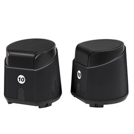Certified Data Deluxe 2.0 USB-Powered Speakers - Black - HXM-688