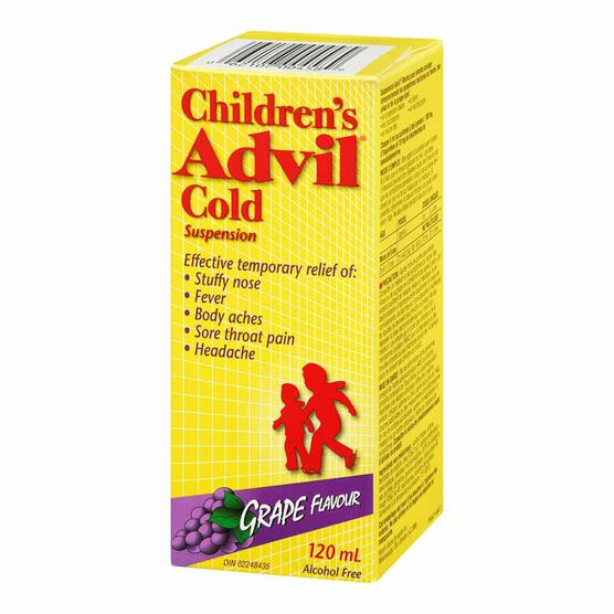 Advil Children's Cold Suspension - Grape - 120ml
