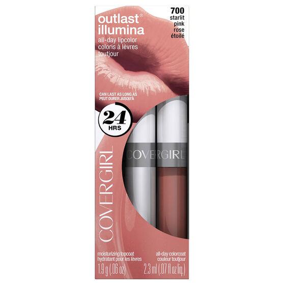 CoverGirl Outlast Illumina All Day Lipcolour - Starlit Pink
