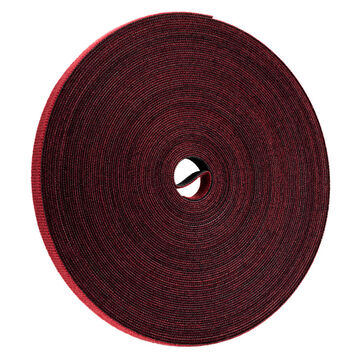 Certified Data 1/2-inch Velcro Wrap - 75 feet - Cranberry