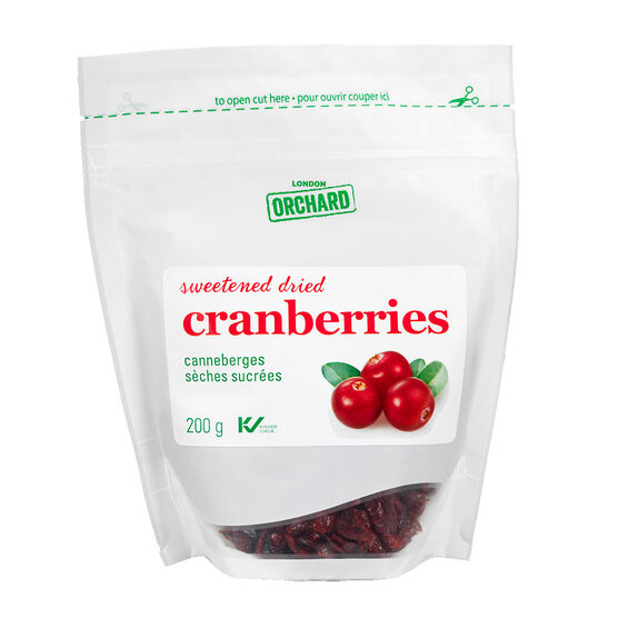 London Orchards Sweetened Dried Cranberries - 200g