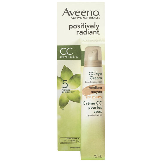 Aveeno Positively Radiant CC Eye Cream - Medium - 15ml