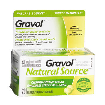Gravol Natural Tablets - 20's