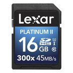 Lexar Platinum II 300X SDHC - 16GB - LSD16GBBNL300