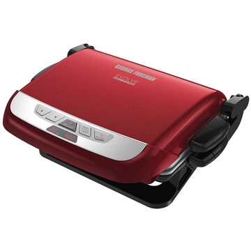 George Foreman Evolve Grill with Ceramic Slider Plates - Red - GRP3832RC