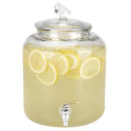 London Drugs Glass Dispenser Lemon Lid - 8L