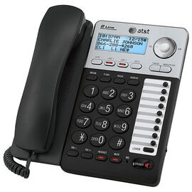 AT&T 2-Line Corded CID Office Phone - Black - ML17929
