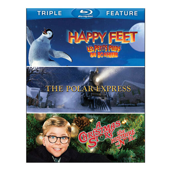 Happy Feet / The Polar Express / A Christmas Story Triple Feature - Blu-ray