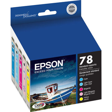 Epson 78 Claria Hi-Definition Ink 78 Standard-Capacity Colour Ink Cartridge - Colour Multi-pack - T078920-S